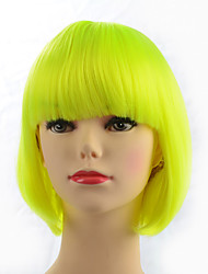 Top Quality Capless Short Bob Wig Synthetic Fiber Straight Wig Costume Hairstyle