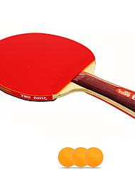2 Stars Ping Pang/Table Tennis Rackets Ping Pang Wood Long Handle Pimples