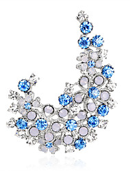 cheap -Women's Brooches - Rhinestone Fashion, Euramerican Brooch Purple / Blue For Wedding / Party / Special Occasion / Daily