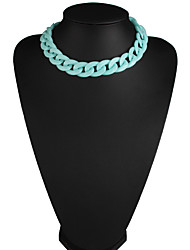Women's Choker Necklaces Jewelry Jewelry Gem Alloy Euramerican Fashion Rainbow Silver Gold Jewelry For Party Gift 1pc