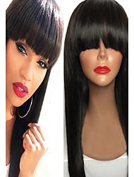 Donna Parrucche di capelli umani con retina Brasiliano Remy Lace integrale Lace frontale Senza colla e con tulle frontale Senza colla e
