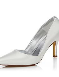 abordables -Femme-Mariage Extérieure Bureau & Travail Habillé Soirée & Evénement-Ivoire-Talon Aiguille-Confort club de Chaussures Chaussures Dyeable-