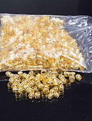 cheap -beautiful beads for crochet braids Dreadlock Hair Beads yellow and white Rings for Synthetic Braiding Hair in Color For Synthetic Hairpiece 1000pcs