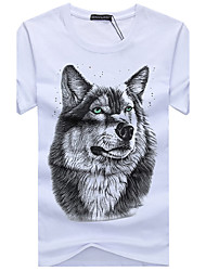 6 Colors S-5XL Plus Size 3D T Shirt Men Summer New Arrvial Funny Wolf Print Round Neck Short Sleeve Cotton Youth loose T-shirts