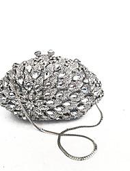 economico -Donna Sacchetti PU (Poliuretano) Metallo Pochette Crystal / Rhinestone Floreale per Matrimonio Serata/evento Formale Per tutte le stagioni