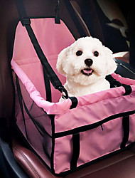cheap -Cat Dog Car Seat Cover Dog Pack Pet Carrier Portable Double-Sided Breathable Foldable Massage Soft Tent Solid Gray Pink