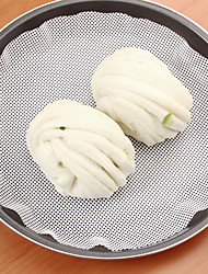 cheap -1Pcs   22Cm Silicone Steamer Non-Stick Pad Round Dumplings Mat Steamed Buns Baking Pastry Dim Sum Mesh Home Kitchen Cooking Tools