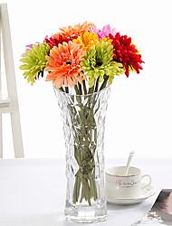 baratos -10 Ramo Seda Margaridas Flor de Mesa Flores artificiais
