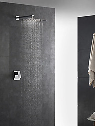 cheap -Contemporary Art Deco/Retro Modern Wall Mounted Rain Shower Handshower Included Thermostatic Brass Valve Two Holes Single Handle Two Holes