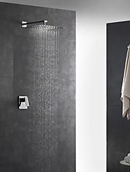Недорогие -Современный Ар деко / Ретро Modern На стену Дождевая лейка Ручная лейка входит в комплект Термостатический Медный клапан Два отверстия