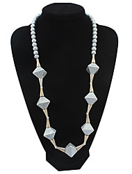Women's Chain Necklaces Statement Necklaces Strands Necklaces Imitation Pearl Jewelry Imitation Pearl Resin Alloy Basic Rhinestones