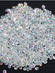 cheap -720Pcs Micro Diamond DIY Nails Rhinestones Crystal Flat Back Non Hotfix Rhinestones stickers Need Glue Nail Art Decoration