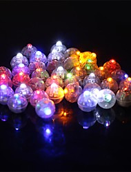 50 Pcs/Set   Round Led Rgb Flash Ball Lamps Balloon Lights For Lantern Christmas Wedding Party Decoration
