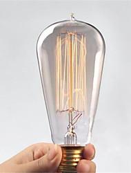 Ac110 / 220v st64 retro edison pull tip vand kreativ personlighed wolfram filament pære 1 stk