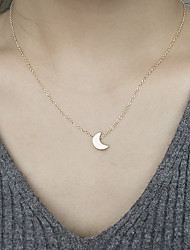 cheap -Women's Moon Shape Fashion Pendant Necklace Alloy Pendant Necklace Daily Costume Jewelry