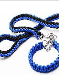 Atualizado colar de cor dupla colar de oito cordas corda cadeia p pet tração corda cão grande cadeia corda cão