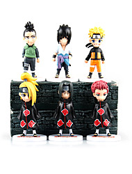 abordables -Las figuras de acción del anime Inspirado por Naruto Sasuke Uchiha PVC 11 CM Juegos de construcción muñeca de juguete