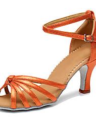Women's Latin Carbon Fiber Heel Performance Customized Heel Blue Red Coffee Orange Customizable