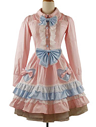 Lolita Classique/Traditionnelle Rococo Femme Fille Une Pièce Robes Cosplay Manches Longues