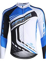 economico -Fastcute Maglia da ciclismo Per uomo Per donna Bambini Unisex Manica lunga Bicicletta Felpa Maglietta/Maglia Top Asciugatura rapida Zip