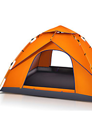 3-4 persons Tent Beach Tent Single Camping Tent One Room Automatic Tent Waterproof Portable for Hiking Camping 2000-3000 mm Fiberglass