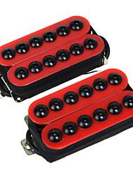 2PCS 1Set Magnet Red Guitar Humbucker Pickup Set Bridge and Neck Invader Style