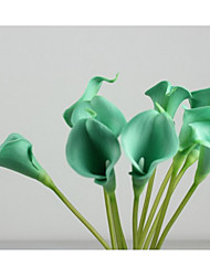 cheap -10 Heads Real touch Calla Lily Tabletop Flower Artificial Flowers
