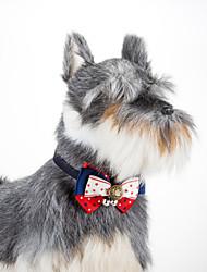 Cachorro Colarinho Retratável Boca de Sino Estrelas Tecido Vermelho