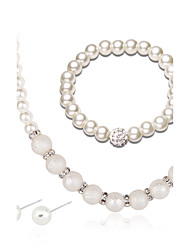 cheap -Women's Jewelry Set Earrings/Bracelet Pearl Necklace Fashion Euramerican Wedding Party Anniversary Engagement Gift Daily Pearl Rhinestone