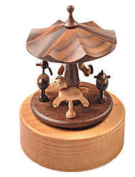 cheap -Music Box Square Gift Kid's Adults Kids Gift Wood Unisex