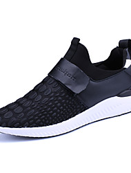 Men's Athletic Shoes Spring Summer Fall Winter Comfort Pigskin Outdoor Athletic Casual Hook & Loop Red Gray Black Walking