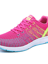 Women's Athletic Shoes Spring Summer Fall Comfort Light Soles Fabric Outdoor Athletic Casual Low Heel Lace-up Running