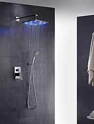 cheap -Shower Faucet - Contemporary Art Deco / Retro Modern Chrome Wall Mounted Brass Valve