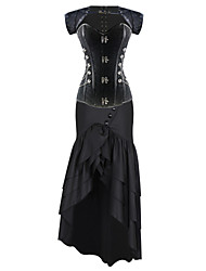 Shaperdiva Vintage Steel Boned Brocade Overbust Steampunk Corset Dress