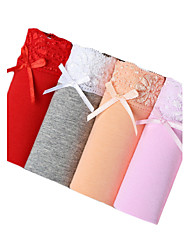 4Pcs/Lot Womens Sexy Seamless Panties Cotton Polyester Underwear Spandex Briefs