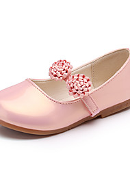 Girls' Oxfords Spring Summer Comfort Flower Girl Shoes PU Party & Evening Dress Casual Flat Heel Satin Flower Blushing Pink Black White