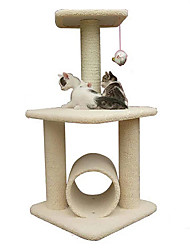 Cat Cat Toy Pet Toys Interactive Scratch Pad Durable Wood Sisal For Pets