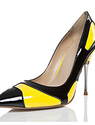 cheap -Women's Heels Spring Fall Club Shoes Comfort Novelty Patent Leather Wedding Outdoor Party & Evening Dress Casual Stiletto Heel Lace-up
