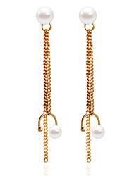 Orecchini a bottone Orecchino Orecchini Set Perle finteClassico Circolare Tasselli Perle finte Di tendenza Personalizzato Fatto a mano