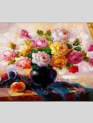 cheap -Oil Paintings Still Life Style Canvas Material With Wooden Stretcher Ready To Hang Size60*90CM and 50*70CM .