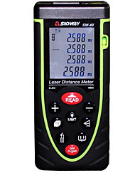 cheap -Sndway SW-M40 Handheld Digital 40m 635nm Laser Distance Measurer with Distance & Angle Measurement(1.5V AAA Batteries)