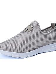 Men's Athletic Shoes Comfort Tulle Summer Casual Walking Comfort Split Joint Flat Heel Black Gray Blue 2in-2 3/4in
