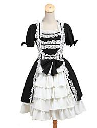 abordables -Lolita Classique/Traditionnelle Femme Fille Tenus de Servante Cosplay Sans Manches