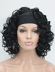 abordables -Perruque Synthétique Bouclé Cheveux Synthétiques Perruque Femme Moyen Perruque Naturelle / Perruque Halloween / Perruque de carnaval Half