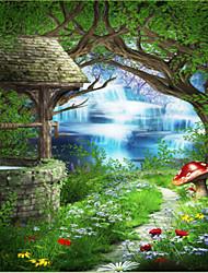 Недорогие -Деревья / Листья 3D Украшение дома Современный Облицовка стен, холст материал Клей требуется фреска, Обои для дома