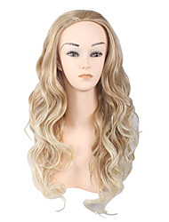 cheap -Synthetic Wig Curly Asymmetrical Haircut Synthetic Hair Natural Hairline Brown Wig Women's Medium Length / Long Capless