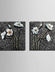 E-HOME Stretched Canvas Art White Flowers On The Ripple  Decoration Painting One Pcs