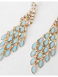 Per donna Orecchini a goccia imitazione dello zaffiro imitazione diamante Pendente Di tendenza Euramerican bigiotteria Zirconi Gioielli