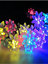cheap -6W W String Lights 7 lm AC220 10 m 100 leds Warm White White RGB Yellow Blue Purple Pink