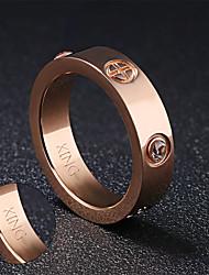 preiswerte -Ringe-Edelstahl-Gold Silber